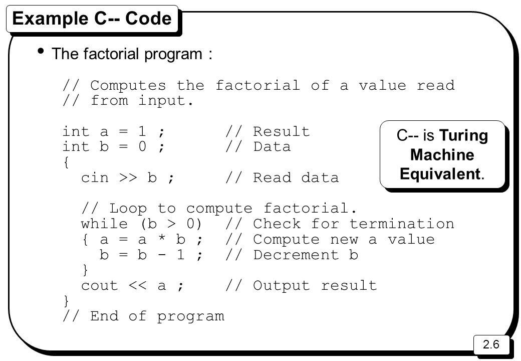 2.7 Extended Backus-Naur Form (EBNF) A way of formally defining syntax.
