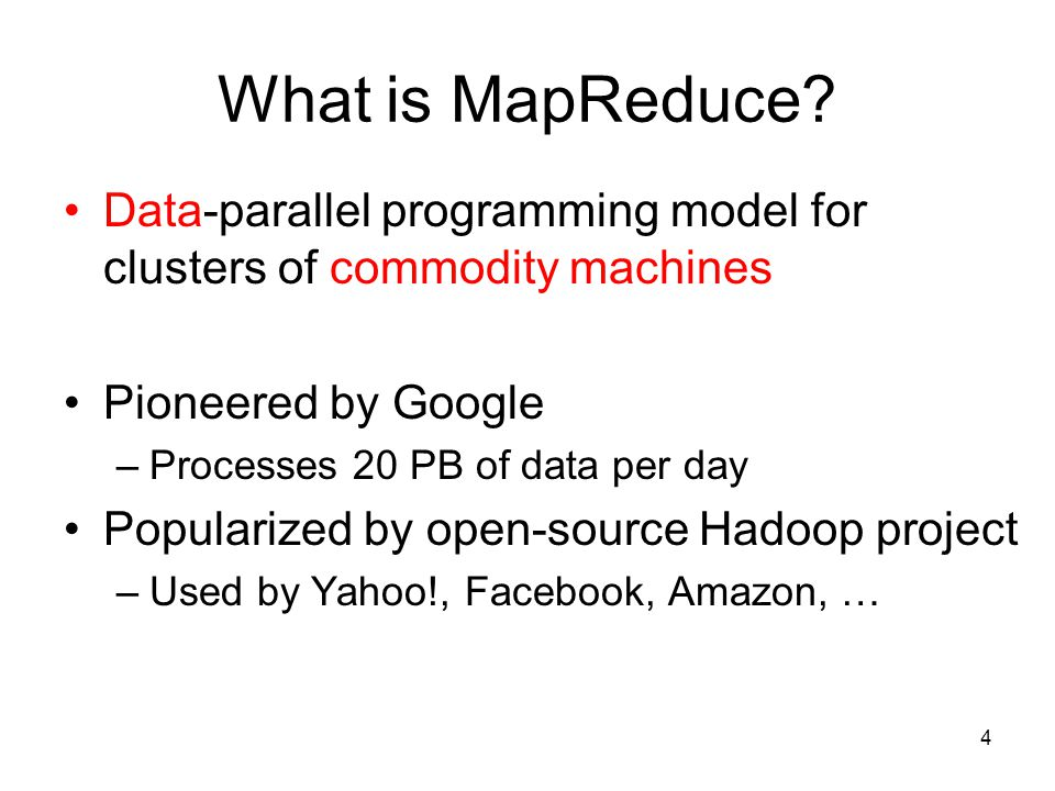 What is MapReduce.
