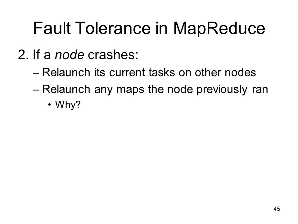 Fault Tolerance in MapReduce 2.