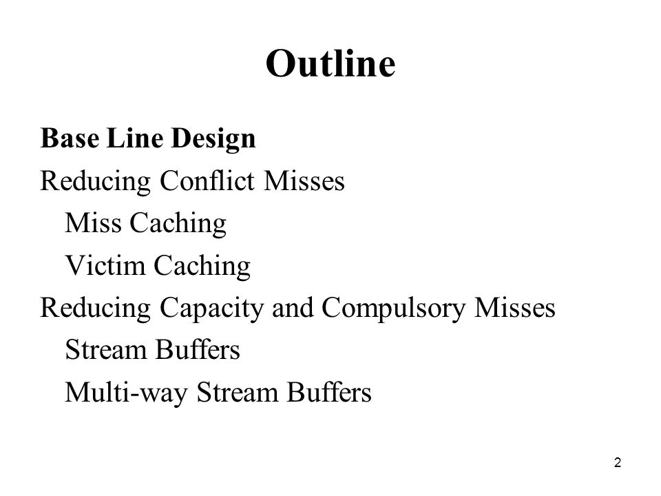13 Cache Misses Three Kinds - Instruction read miss: Causes most delay, CPU has to wait until the instruction Is fetched from the DRAM - Data read miss: Causes less delay, Inst not dependent on cache miss can continue execution until data is returned from DRAM - Data write miss: causes least delay, write can be queued & CPU can continue until queue is full