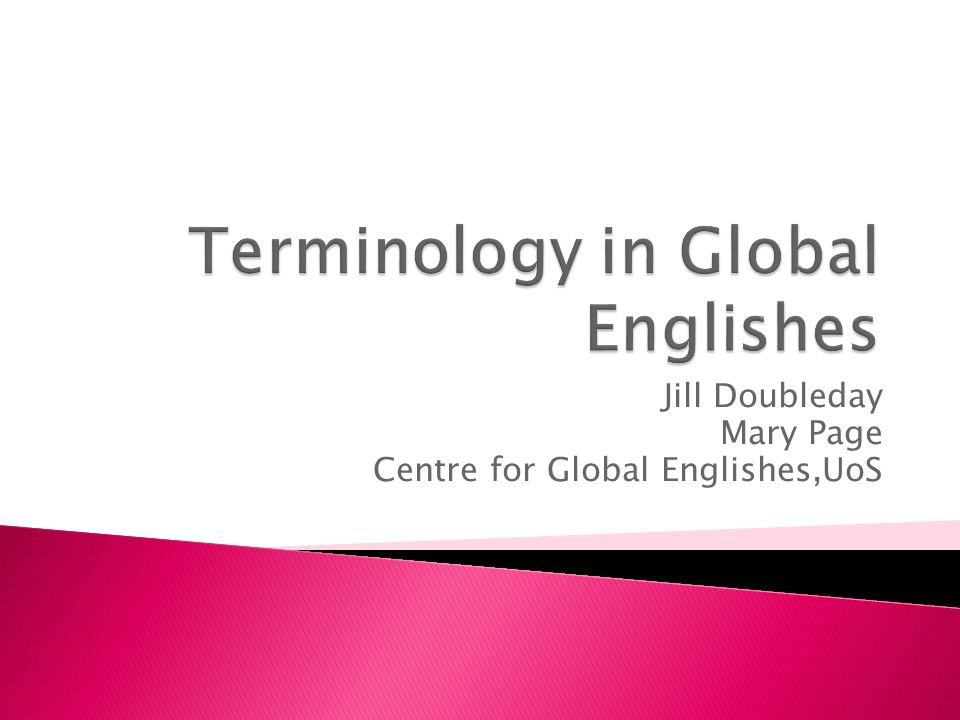  'This volume explores the spread of English in the world or global Englishes, and English as a lingua franca (ELF), also known as English as an international language (EIL) from varying perspectives……' (Murata & Jenkins, 2009:1)  'Thus, we believe ('global Englishes') encompasses both centrifugal and centripetal natures of WE, EIL or ELF simultaneously.' (Murata & Jenkins, 2009:5)