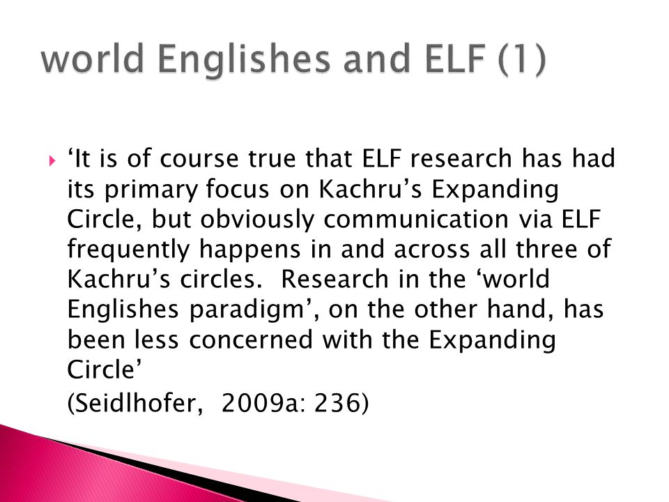  'Globalish should incorporate national peculiarities beyond those of today's English, namely also those of non-native speakers.
