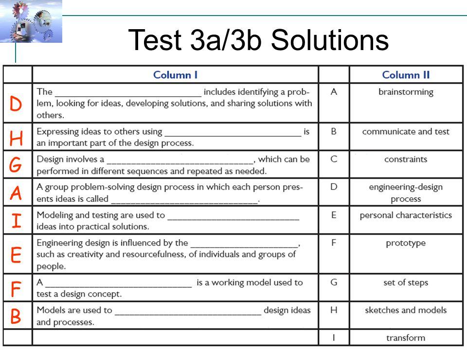 Test 3a/3b Solutions U3c-L2 D H G A I E F B