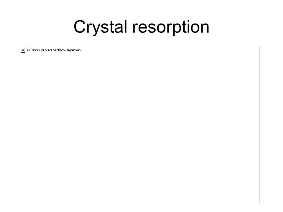 Crystal resorption