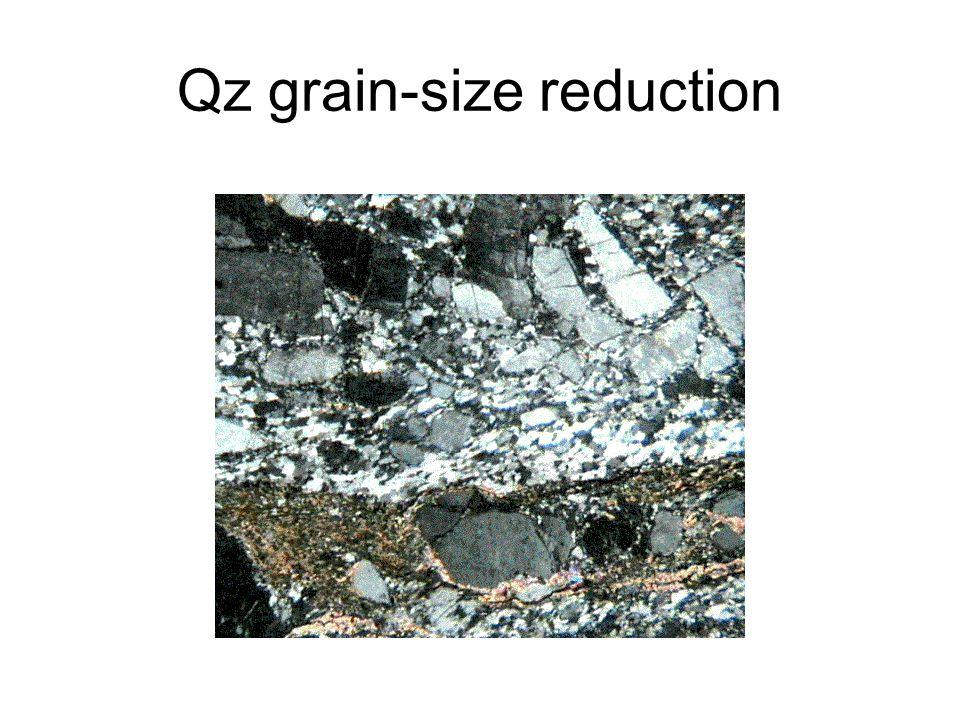 Qz grain-size reduction