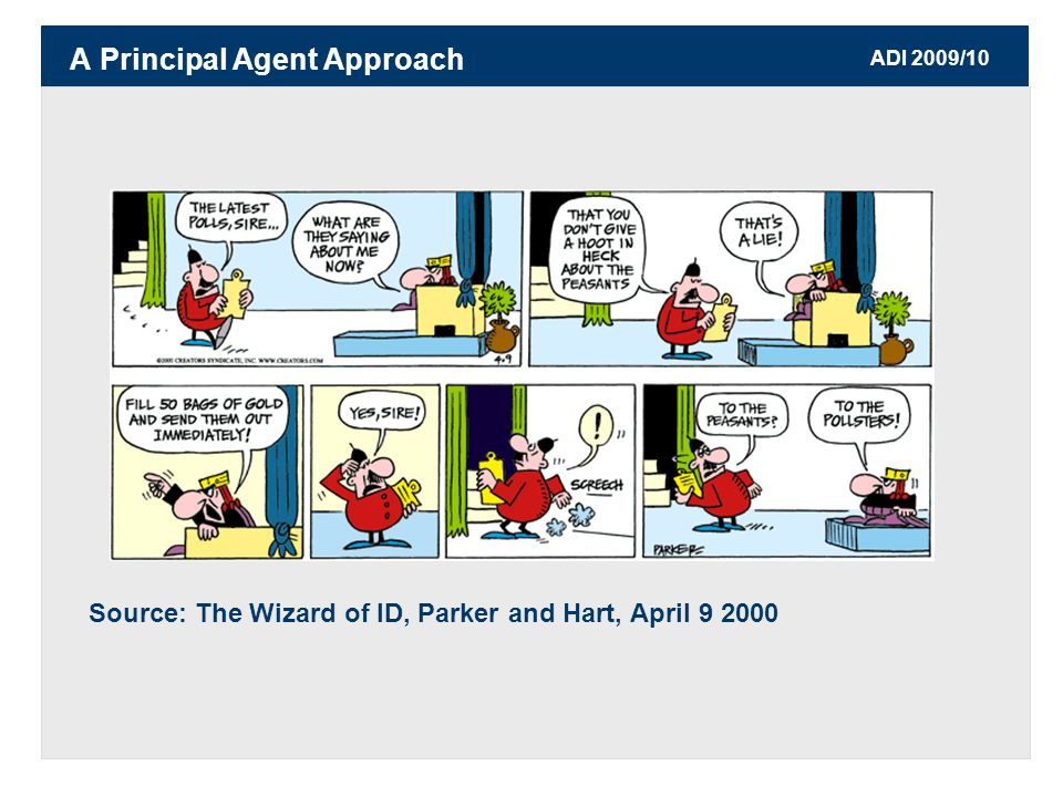 ADI 2009/10 Source: The Wizard of ID, Parker and Hart, April A Principal Agent Approach