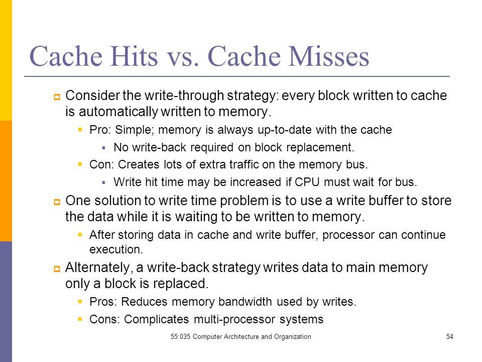 Cache Hits vs.