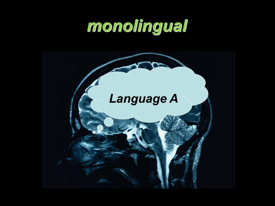 monolingual Language A