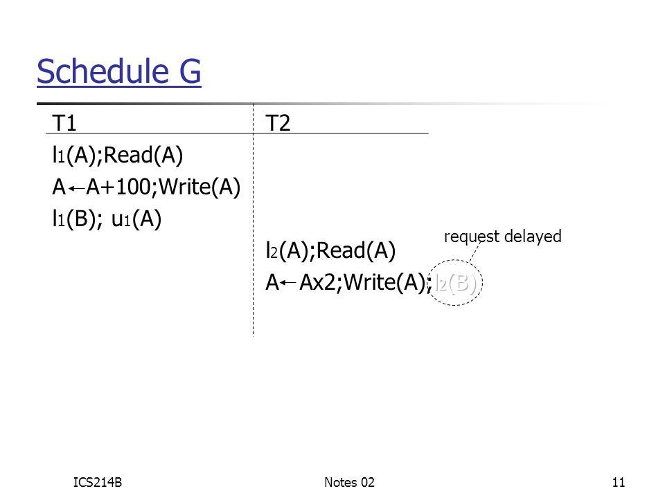 ICS214BNotes 0211 Schedule G request delayed