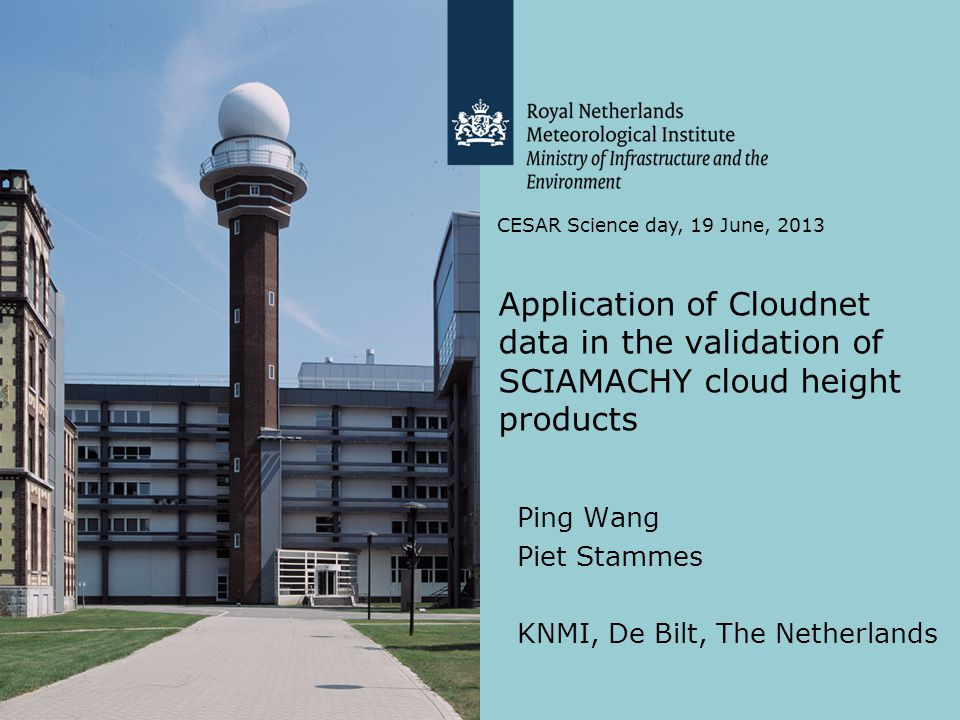 Overview SCIAMACHY cloud products Cloud retrieval algorithms from O 2 A band Validation data sets Results Summary