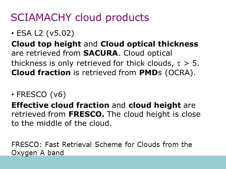 SCIAMACHY cloud height vs.