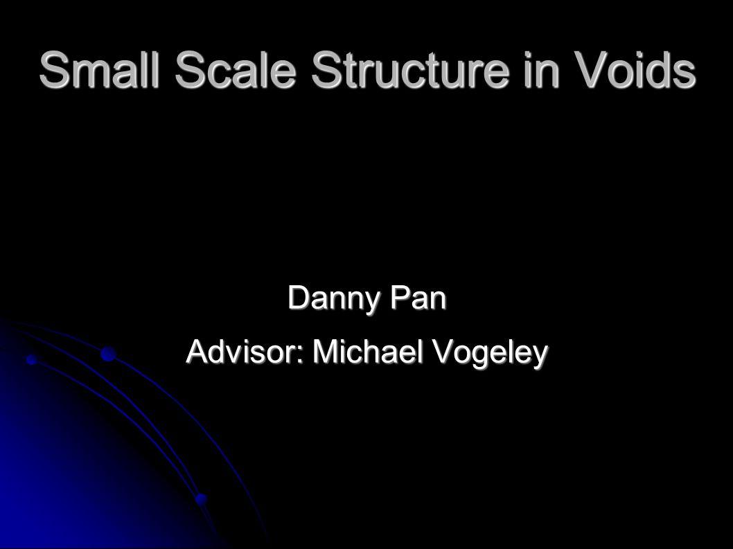 Motivation/Goal  -CDM models show small scale structure in voids  -CDM models show small scale structure in voids Goal is to verify the small scale structure of voids Goal is to verify the small scale structure of voids Possible results.
