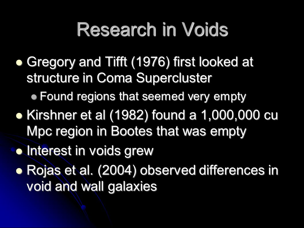 Void Statistics