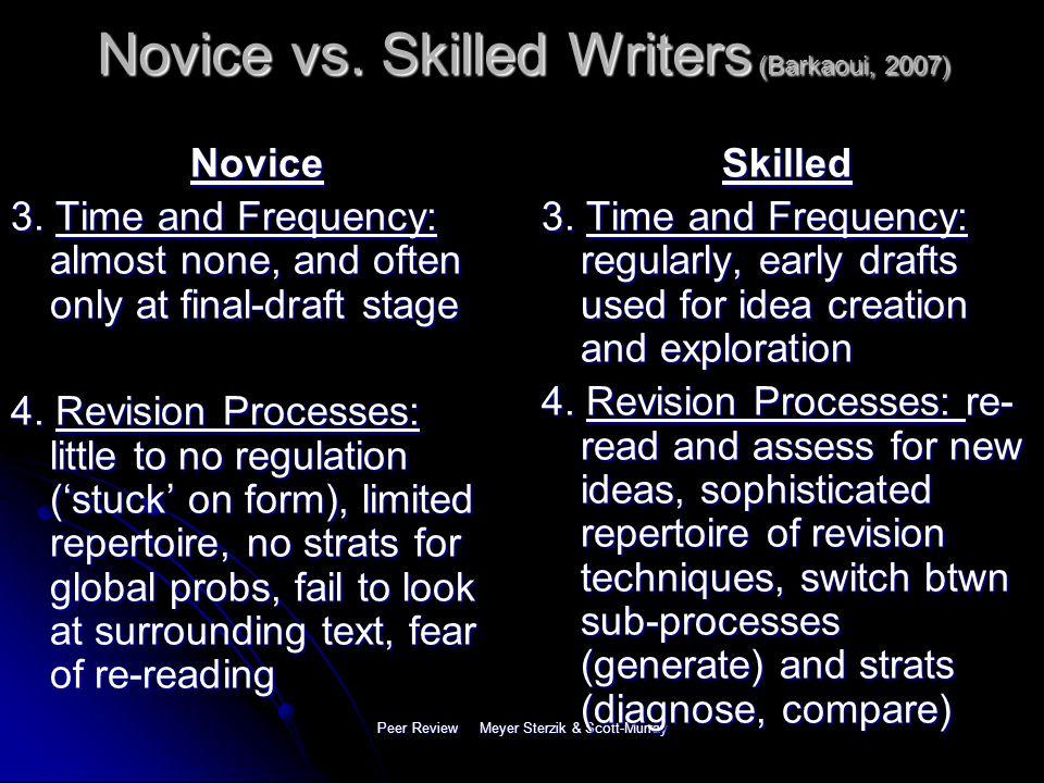 Peer Review Meyer Sterzik & Scott-Murray Novice vs.