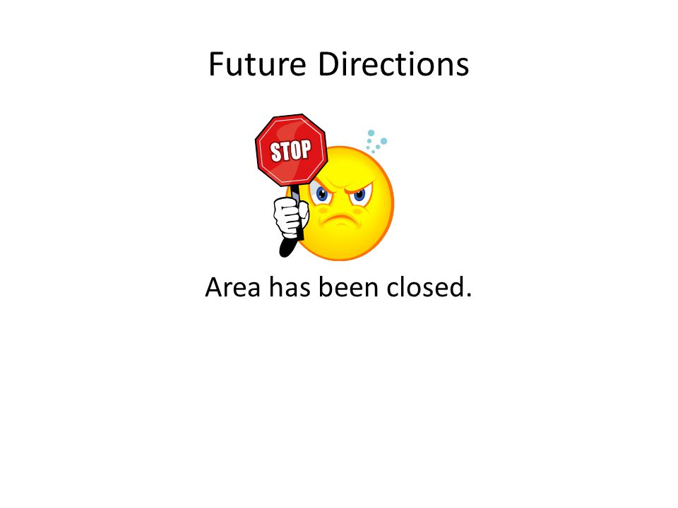 Future Directions Area has been closed.
