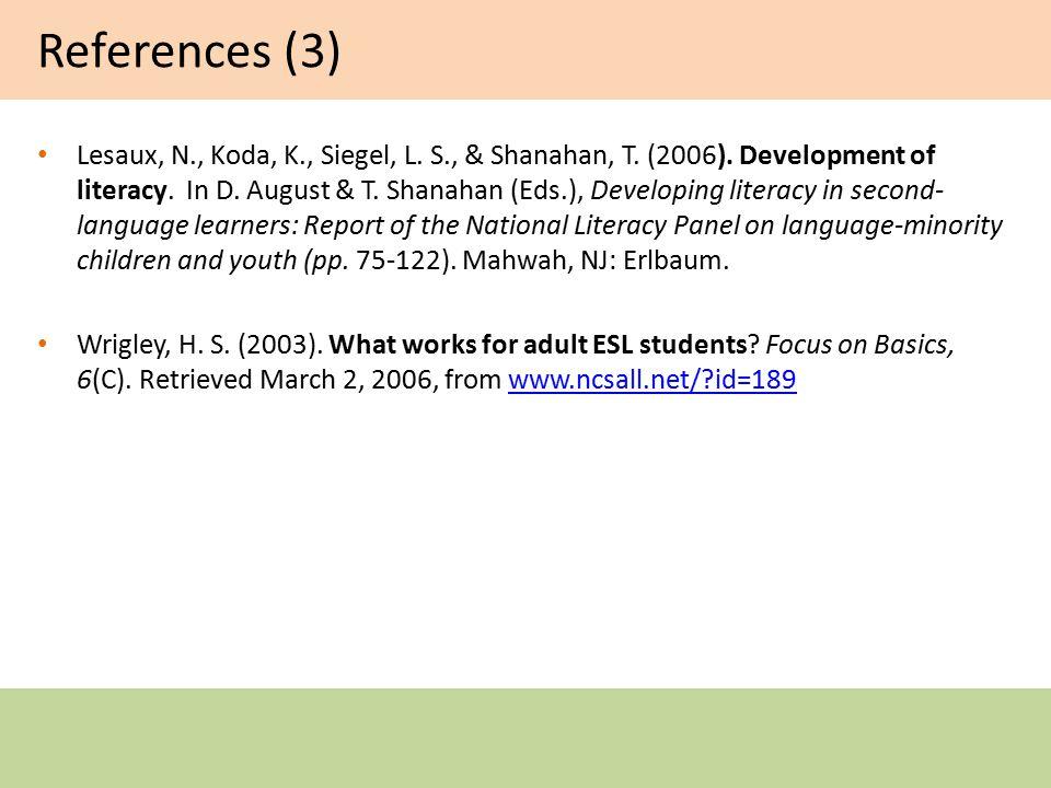 References (2) Kroll, J.