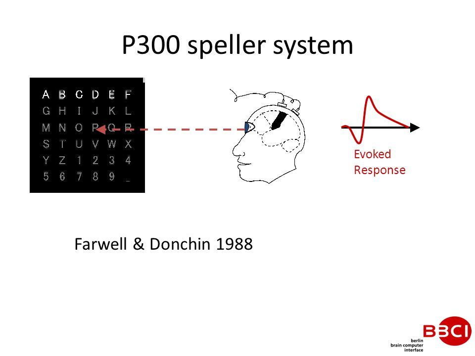 P300 speller system Evoked Response Farwell & Donchin 1988