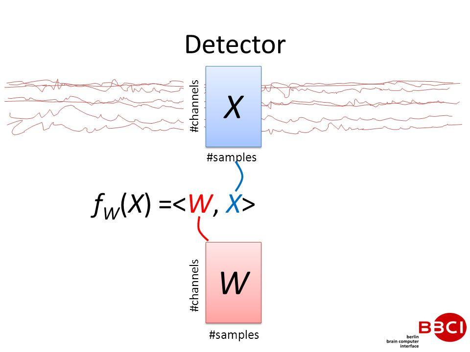 Detector f W (X) = X X #samples #channels W W #samples #channels