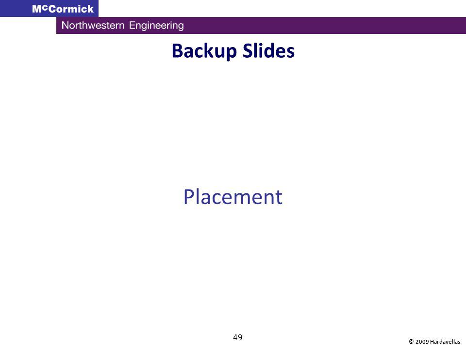 © 2009 Hardavellas 49 Backup Slides Placement