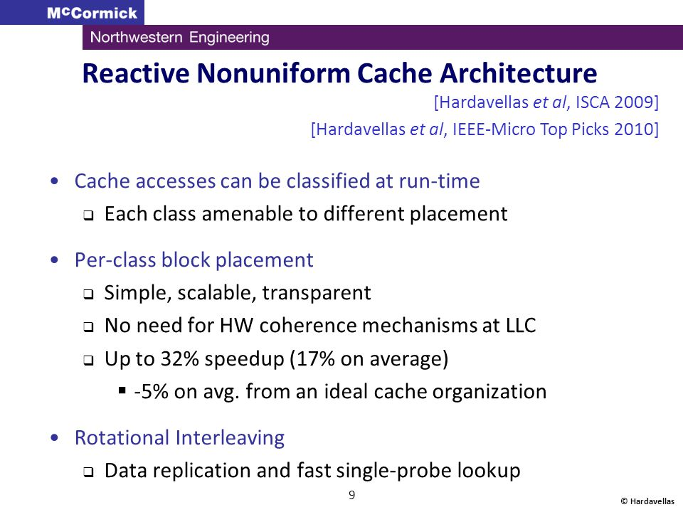 © Hardavellas 10 Outline Introduction Why do Cache Accesses Matter.