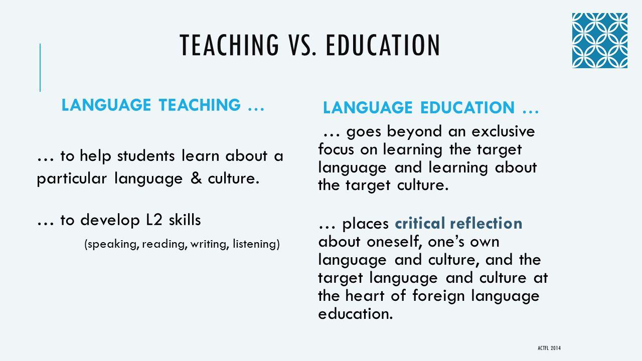 TEACHING VS.