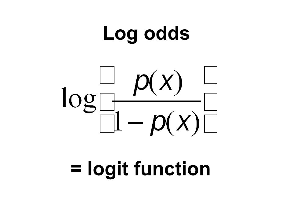 Log odds = logit function