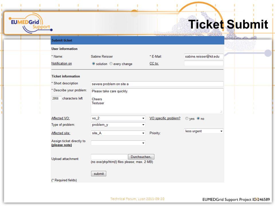 Ticket Submit Technical Forum, Lyon 2011-09-2029