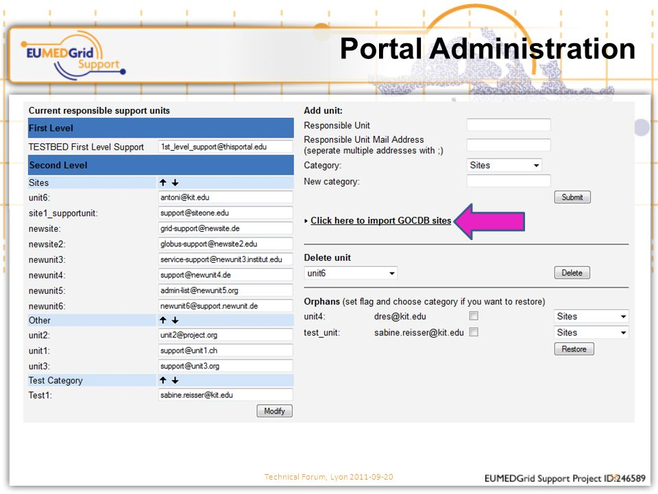 Portal Administration Technical Forum, Lyon 2011-09-2038