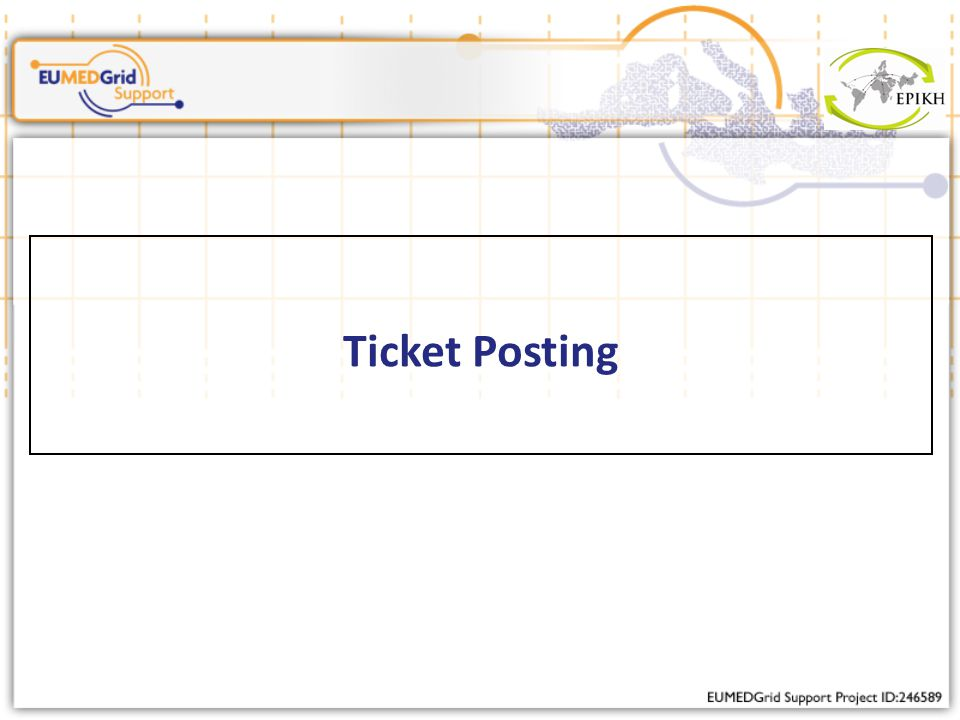 Ticket Posting