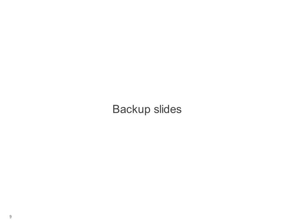 Backup slides 9