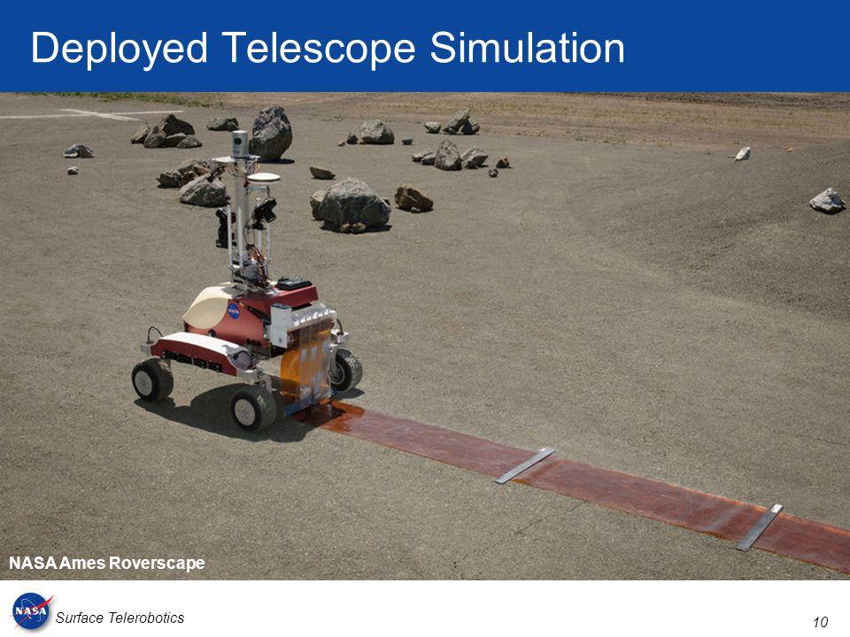 10 Surface Telerobotics Deployed Telescope Simulation NASA Ames Roverscape