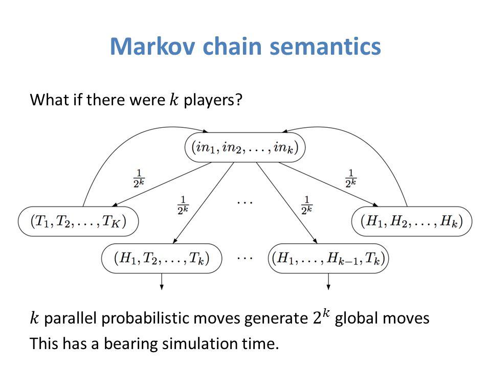 Markov chain semantics