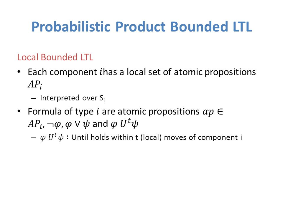 Probabilistic Product Bounded LTL