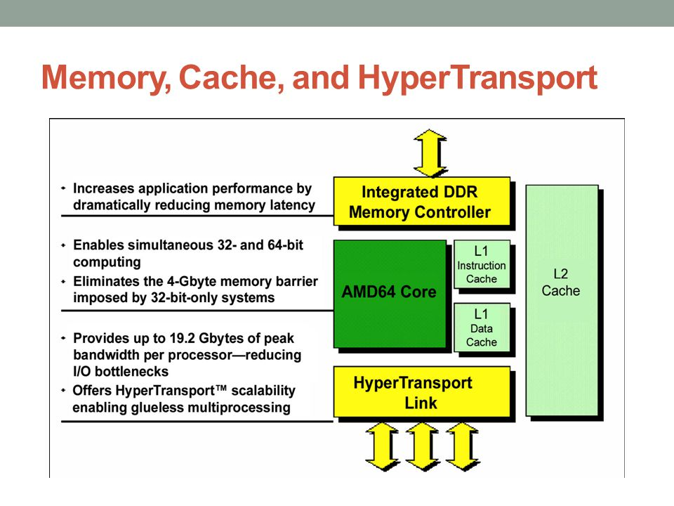 Memory, Cache, and HyperTransport