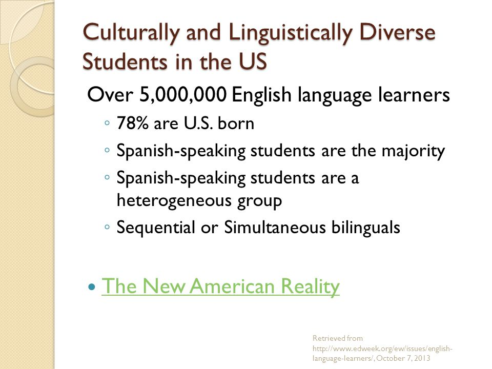 Characteristics of Gifted CLD Students Look at the list of characteristics of Gifted English Language Learners.