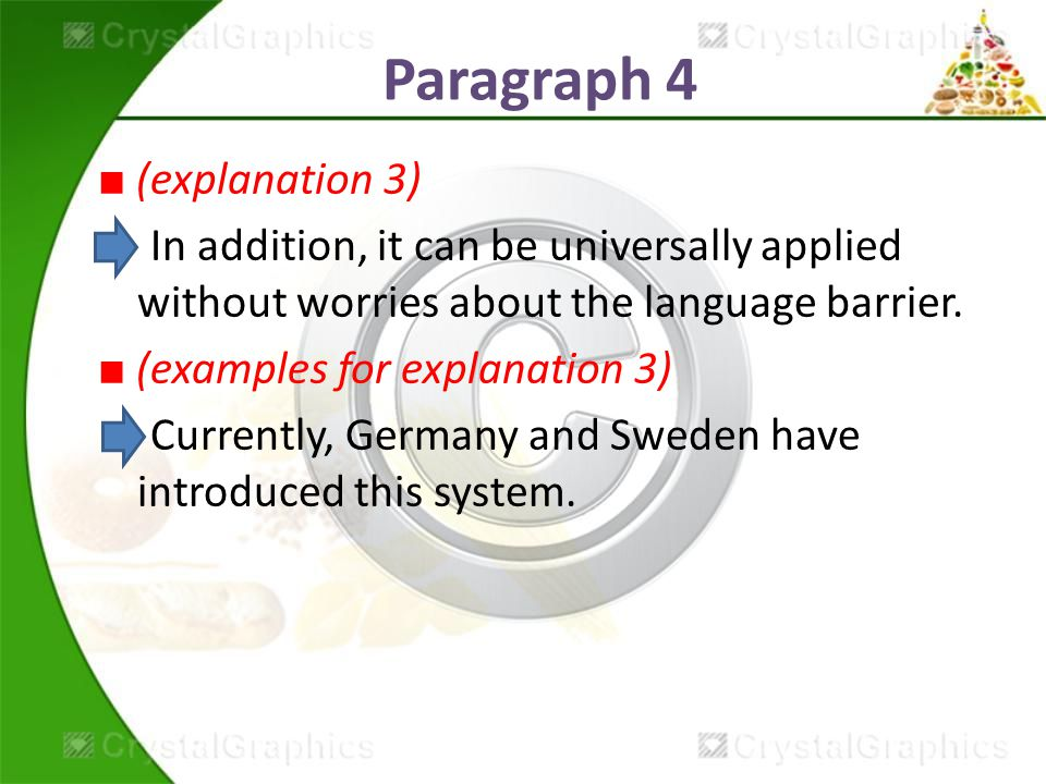 Paragraph 4 ■ (explanation 3) In addition, it can be universally applied without worries about the language barrier.