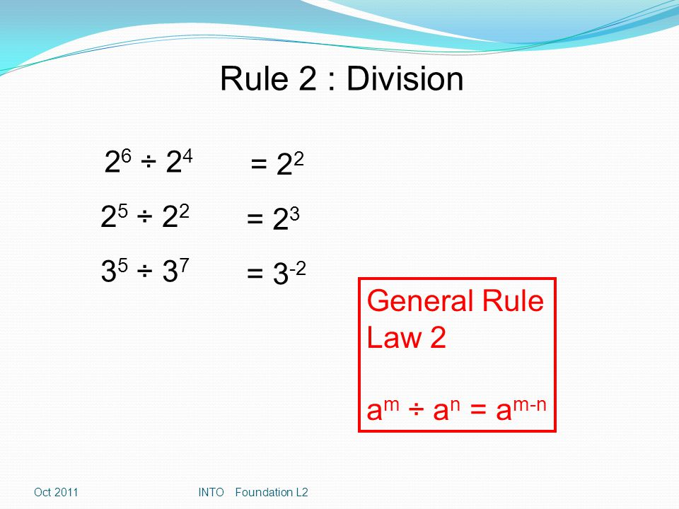 Exercises Section 2- Working with Indices Additional Questions if you get that far.