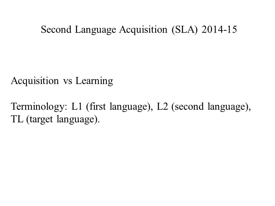 The development of the interlanguage is influenced by the learning strategies that people employ.