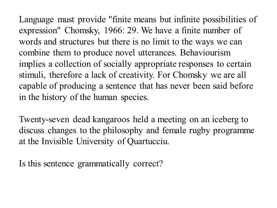 Language must provide