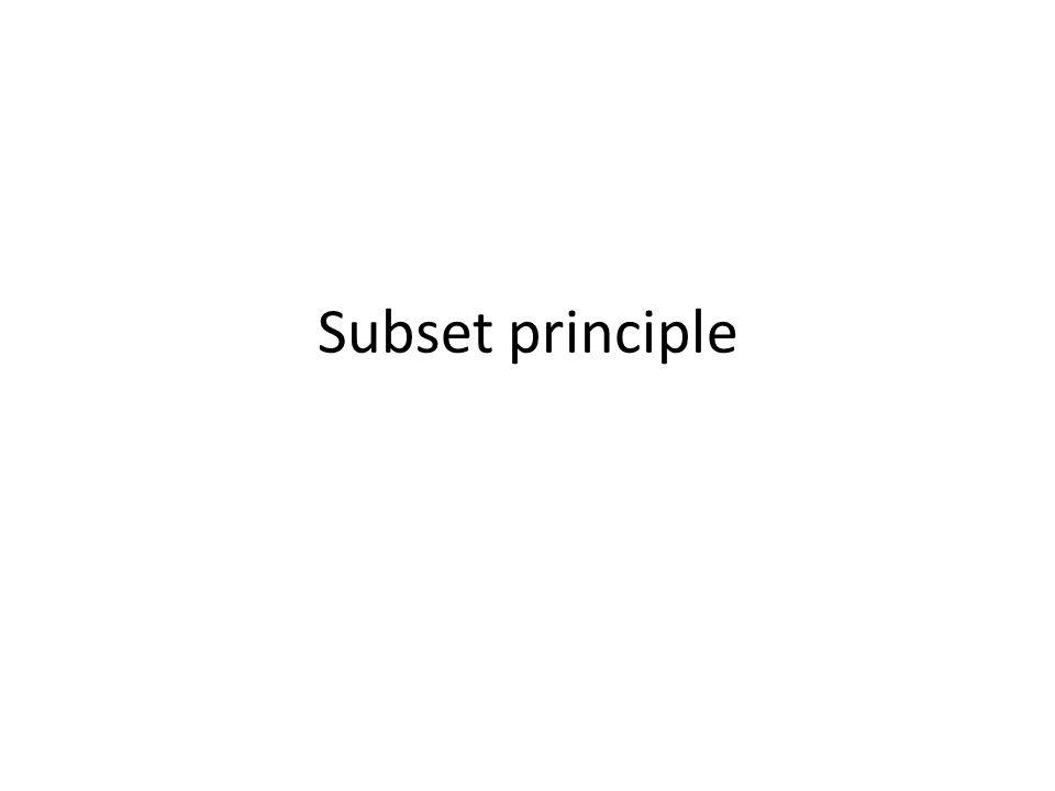 Subset principle