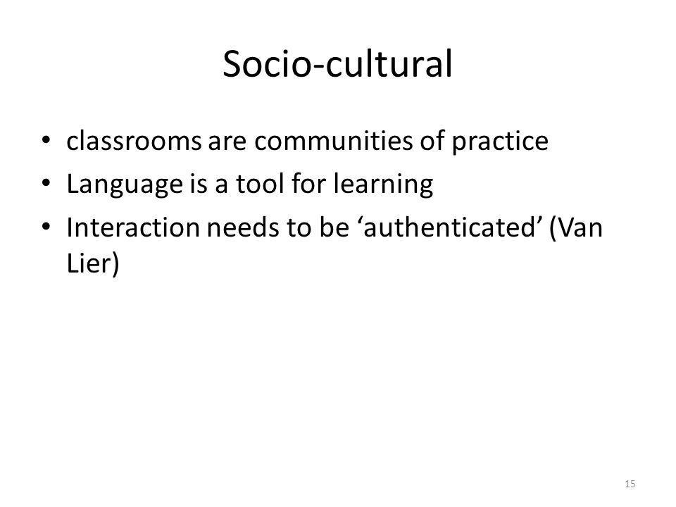 sociolinguisticSocio-cultural Backdrop 2 14