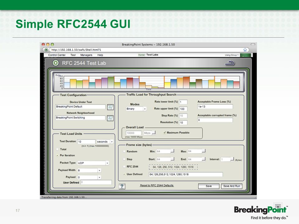 Simple RFC2544 GUI 17