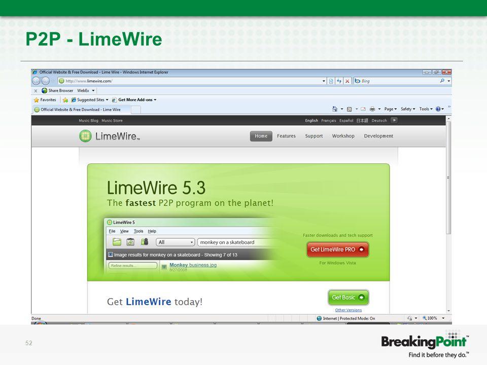 P2P - LimeWire 52