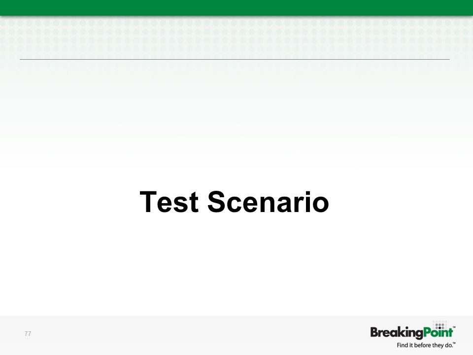 Test Scenario 77