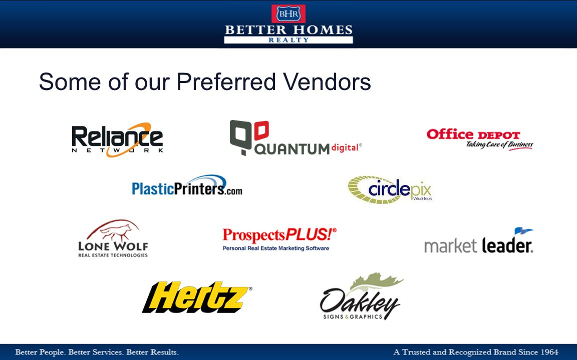 Some of our Preferred Vendors