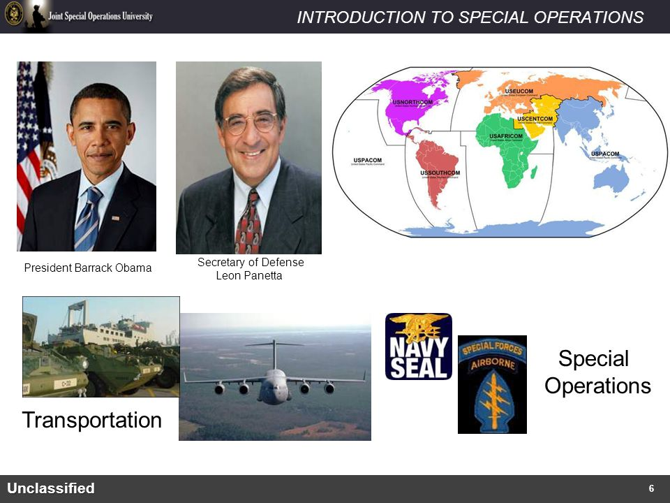 INTRODUCTION TO SPECIAL OPERATIONS What are Special Operations.