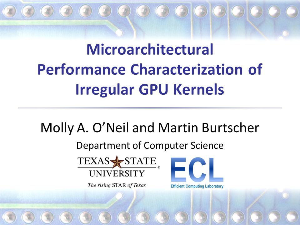 Microarchitectural Performance Characterization of Irregular GPU Kernels Molly A.