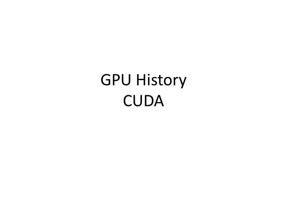 GPU History CUDA