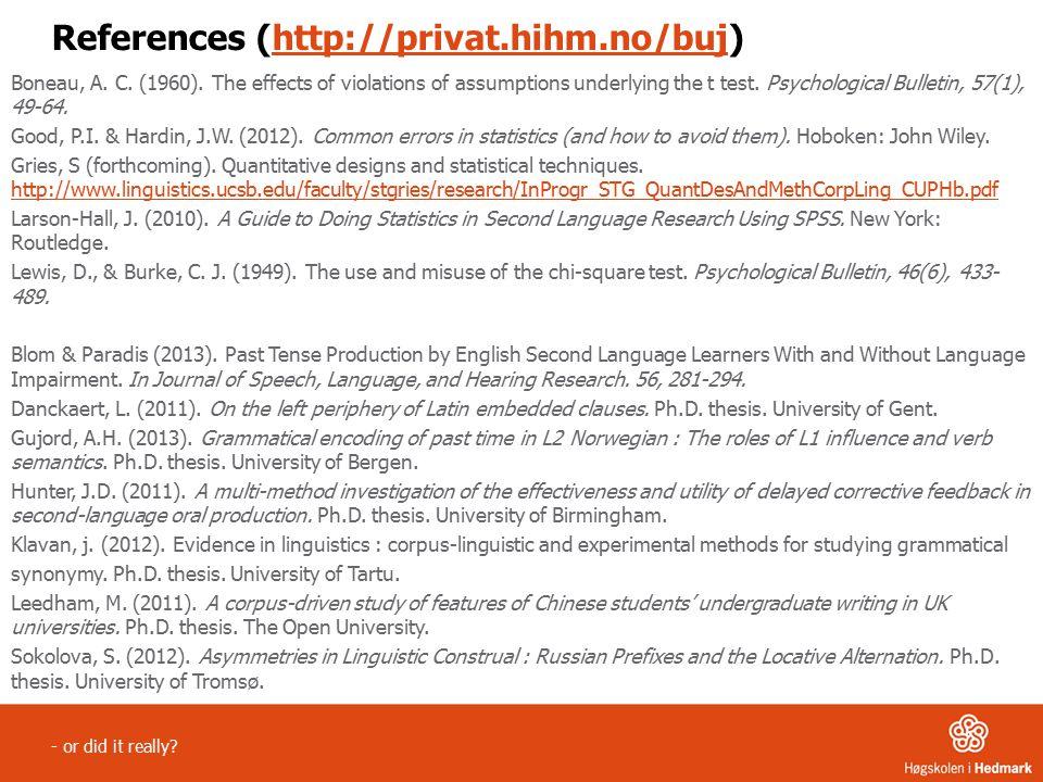 References (http://privat.hihm.no/buj)http://privat.hihm.no/buj Boneau, A.