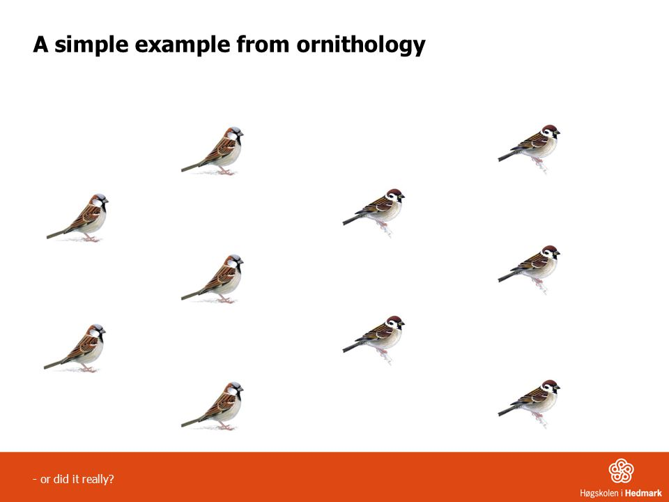 - or did it really A simple example from ornithology